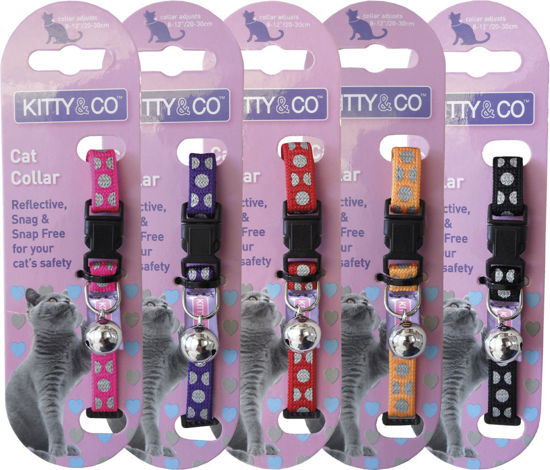 Picture of Snag Free Reflective Polka Dot Cat Collar